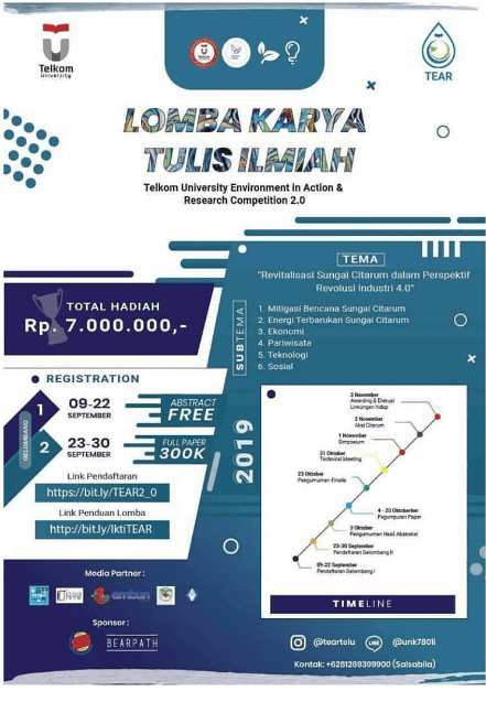 Lomba Karya Tulis Ilmiah – Telkom University Environment in Action & Research Competition 2.0